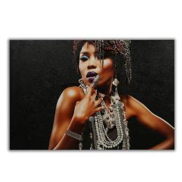 Vitale Kabartmalı Kadın Tablo 120x80 cm