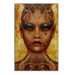 Vitale Dövmeli Kadın Tablo 80x120 cm