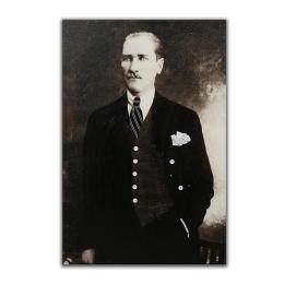 Vitale Kabartmalı Atatürk Tablo 80x120 cm