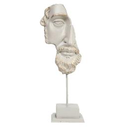 Vitale Poseidon Büst Beyaz 55 cm