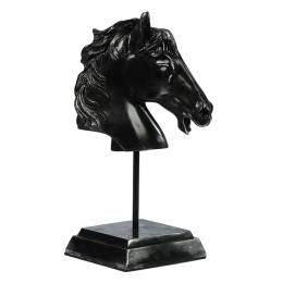 Kaideli At Başı Biblo Siyah 14x30 cm