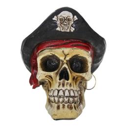 Vitale Pretty Siyah Şapkalı Kurukafa Biblo 7x9 cm AK.BZ0160