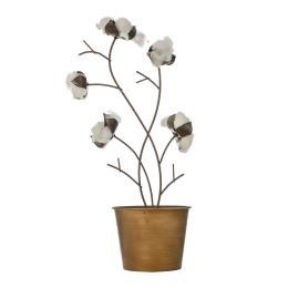 Vitale Agra Dekoratif Pamuk Çiçeği AK.EU0090