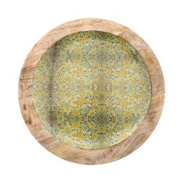 Vitale Şiva Çiçek Desenli Dekoratif Tabak Yeşil AK.FQ0001-Y