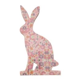 Vitale Şiva Çiçek Desenli Dekoratif Tavşan Büyük Boy Pembe AK.FQ0006