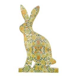 Vitale Şiva Çiçek Desenli Dekoratif Tavşan Büyük Boy Yeşil AK.FQ0006-Y