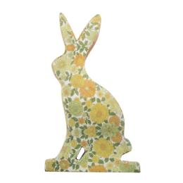 Vitale Şiva Çiçek Desenli Dekoratif Tavşan Küçük Boy Yeşil AK.FQ0007-Y