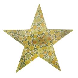 Vitale Şiva Çiçek Desenli Dekoratif Yıldız Yeşil 25x4 cm AK.FQ0017-Y
