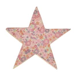 Vitale Şiva Çiçek Desenli Dekoratif Yıldız Pembe Küçük Boy AK.FQ0018-P