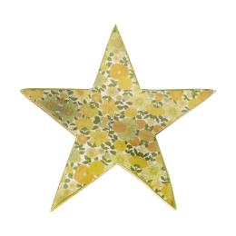 Vitale Şiva Çiçek Desenli Dekoratif Yıldız Yeşil Küçük Boy AK.FQ0018-Y