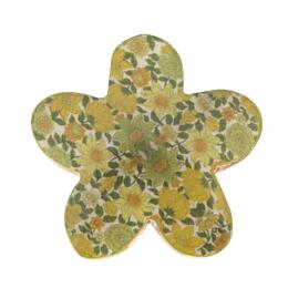 Vitale Şiva Çiçek Desenli Dekoratif Yeşil Papatya Küçük Boy AK.FQ0020-Y