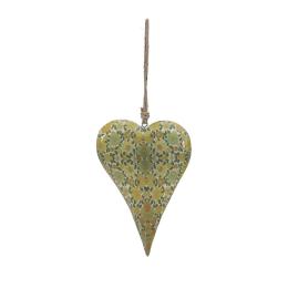 Vitale Şiva Çiçek Desenli Yeşil Kalp Büyük Boy AK.FQ0025
