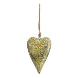 Vitale Şiva Çiçek Desenli Yeşil Kalp Orta Boy AK.FQ0026-Y