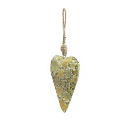 Vitale Şiva Çiçek Desenli Yeşil Kalp Küçük Boy AK.FQ0027-Y