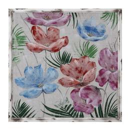 Vitale Doru Renkli Çiçek Dekoratif Tablo 98x98 cm AK.FW0002