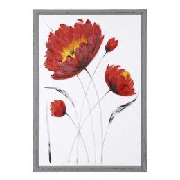 Vitale Doru Çiçek Desen Şeffaf Dekoratif Tablo 70x100 cm AK.FW0013