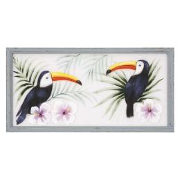 Vitale Pera Papağan Dekoratif Tablo 100x50 cm AK.FW0015