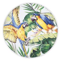 Vitale Pera Papağanlar Ahşap Tablo 80x80 cm AK.FW0027