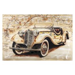 Vitale Doru Sarı Antik Araba Tablo 80x120 cm AK.FX0005