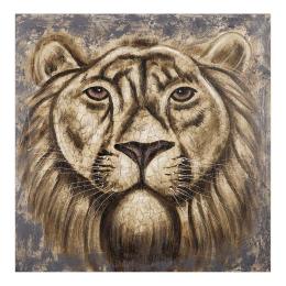 Vitale Doru Aslan Dekoratif Tablo 100x100 cm AK.GI0004