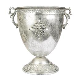 Vitale Marial Gümüş Metal Oval Kupa Vazo AK.GJ0008