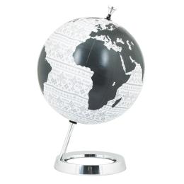 Vitale Siyah Beyaz Dekoratif Dünya Küre 30x45 cm AK.HW0026