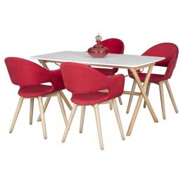 Vitale Gelso 80x140 cm Yemek Masası Seti MS.MA098-SET