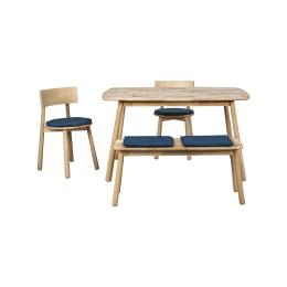 Vitale Seven 80x135 cm Masa Sandalye Seti Mavi MS.SET07