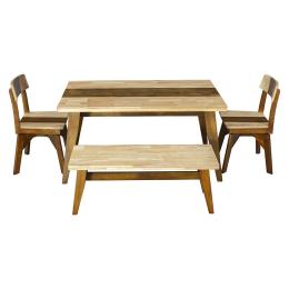 Vitale Timber Bench Masa Seti MS.SET24